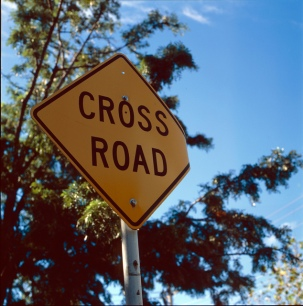 Cross Road Sign
